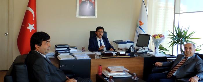 Ankara İnşaat Mühendisleri Odası Başkanı Genel Müdürümüzü ziyaret ederek sektörün sorunları hakkında bilgi vermişlerdir.