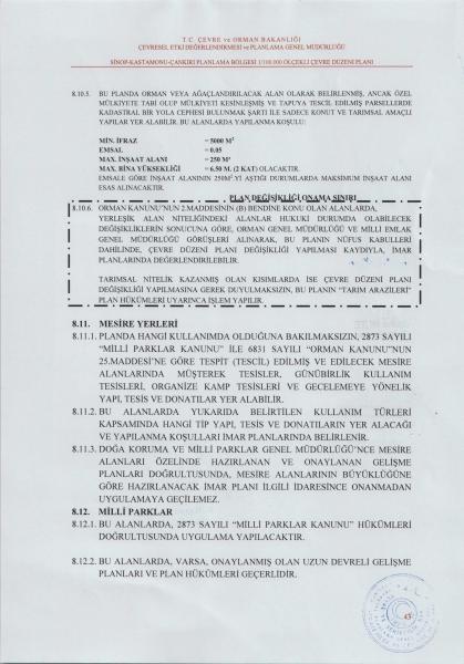 Sinop-Kastamonu-Çankırı Planlama Bölgesi 1/100.000 Ölçekli Çevre Düzeni Planı Hükümlerinde yapılan değişiklik askıya çıkarılmıştır.
