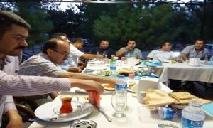 Sivas İl Özel İdare Genel Sekreterliği'ne Tayini Çıkan Feridun YAYA için Düzenlenen Veda Yemeği