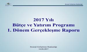 2017 yılı 1. Dönem Bütçe Gerçekleşme Raporu