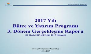 2017 Yılı 3. Dönem Bütçe Gerçekleşme Raporu