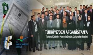 Türkiye'den Afganistan'a Tapu ve Kadastro Alanında Destek Çalışmaları Başladı