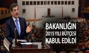 Çevre ve Şehircilik Bakanlığının 2015 Yılı Bütçesi Kabul Edildi