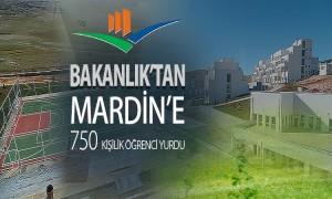 BAKANLIKTAN MARDİN'E 750 KİŞİLİK ÖĞRENCİ YURDU