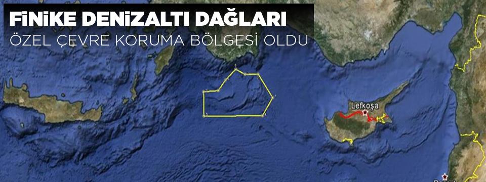 Finike Denizaltı Dağları Özel Çevre Koruma Bölgesi Oldu