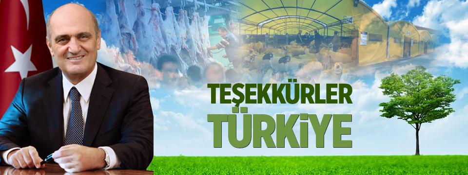 Teşekkürler Türkiye