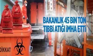 Bakanlık 45 Bin Ton Tıbbi Atığı İmha Etti