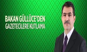 Bakan Güllüce'den Gazetecilere Kutlama