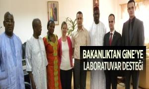Bakanlıktan Gine'ye Laboratuvar Desteği