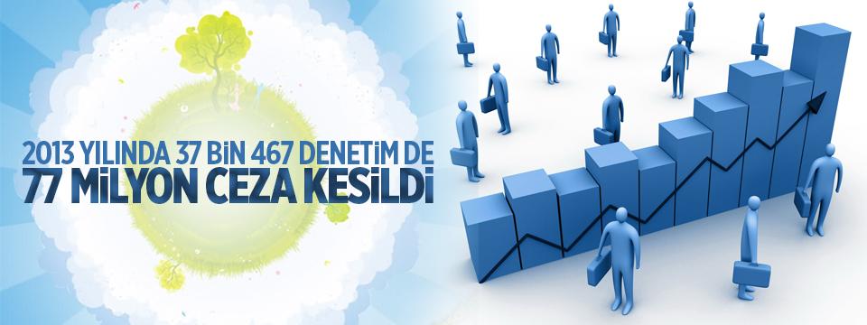 2013 Yılında 37 Bin Denetim De 77 Milyon Ceza Kesildi