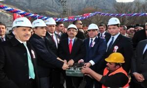 Bakan Güllüce Amasya'da Atıksu Arıtma Tesisinin Temel Atma Törenine Katıldı