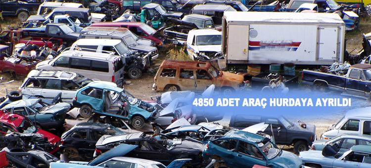 2014 Yılında 4850 Adet Araç Hurdaya Ayrıldı