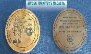 Ozon Tabakasını Koruma Onur Madalyası Türkiye'nin