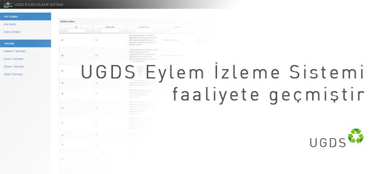 UGDS Eylem İzleme Sistemi