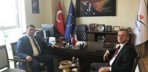 ASAT Genel Müdürü Av. İbrahim KURT, Başkanımız Sn. İsmail Raci BAYER'i makamında ziyaret etti.