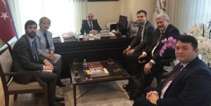 Avrupa Komisyonu temsilcileri, AB Türkiye Delegasyonu temsilcisi, AB Bakanlığı temsilcisi ve Başkanımız Bakanlığımız IPA Program Otoritesi Başkanı (HOS) Müsteşar Yardımcısı Sn. Mücahit DEMİRTAŞ'ın makamında bir araya geldi.