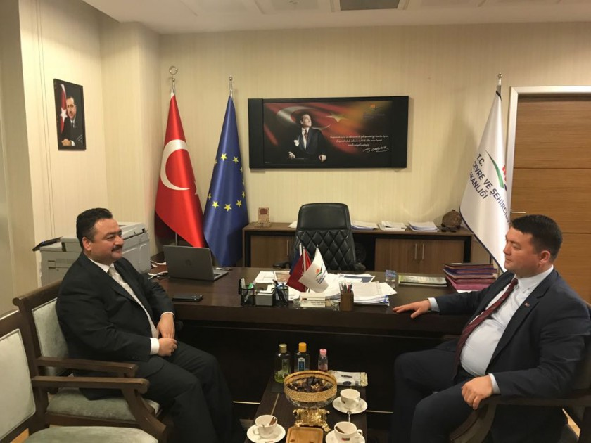 Balıkesir Büyükşehir Belediye Başkanlığı Genel Sekreteri Sn. Mehmet GÜRBÜZ, Başkanımız Sn. İsmail Raci BAYER'i Ziyaret Etti