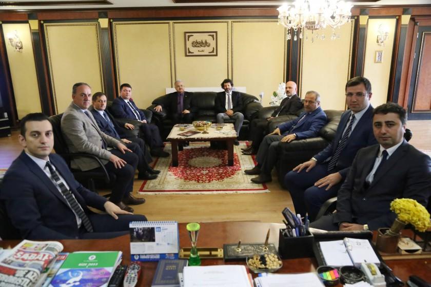 """Başkanımız Sayın İsmail Raci BAYER, """"Rize Entegre Su Projesi kapsamında Rize Belediye Başkanı Prof.Dr. Reşat KASAP'ı ziyaret etti."""