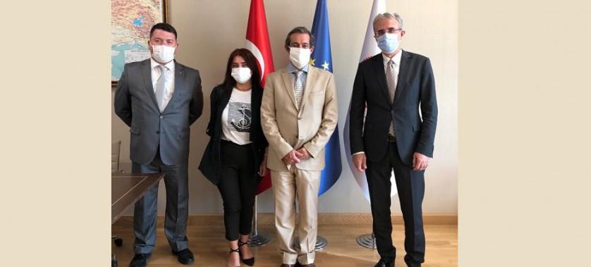 AB Türkiye Delegasyonundan Genel Müdür Vekilimiz Sn. M. Bülent ÜNCÜ'ye Hayırlı Olsun Ziyareti