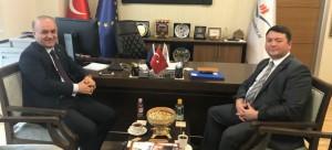 ASKİ (Adana) Genel Müdür Yardımcısı Sn. Yüksel DURNA, Başkanımız Sn. İsmail Raci BAYER'i makamında ziyaret etti.