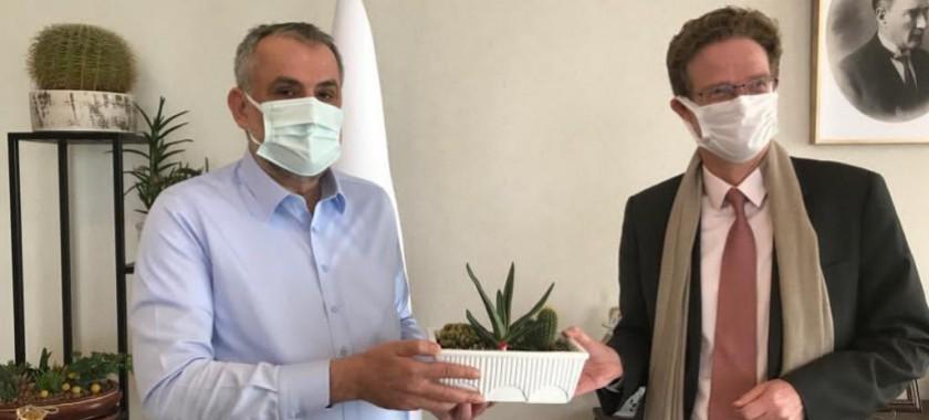 Avrupa Birliği Türkiye Delegasyonu Başkanı Sayın Büyükelçi Nikolaus Meyer-Landrut, Bakan Yardımcımız Sayın Prof.Dr. Mehmet Emin BİRPINAR'ı Ziyaret Etti