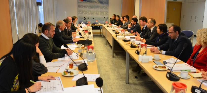 Aylık İzleme Toplantısı AB Türkiye Delegasyonu'nda gerçekleştirildi.