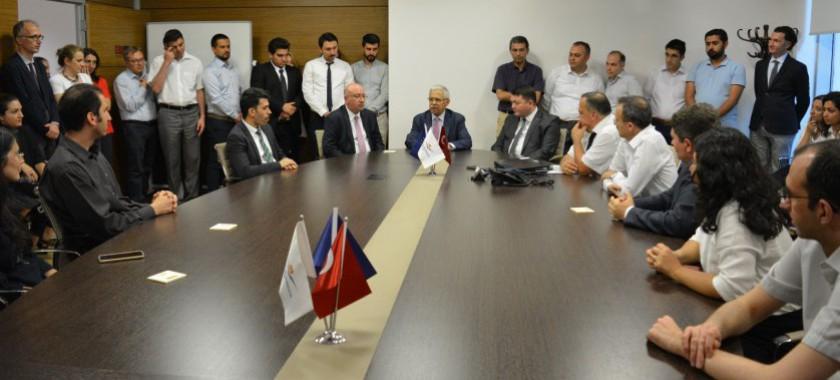 Emekliye ayrılan Sayın Müsteşarımız Prof.Dr. Mustafa ÖZTÜRK personele veda ziyaretinde bulundu.