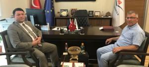 Kırıkkale Üniversitesi İnşaat Müh. Bölümü Öğretim Üyesi Prof.Dr. İlhami DEMİR, Başkanımız Sn. İsmail Raci BAYER'i makamında ziyaret etti ve Başkanlığımız faaliyetleri hakkında bilgi aldı.