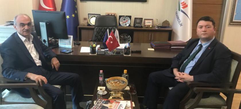 MARSU Genel Müdürü Sn. Sadullah TURGUT, Başkanımız Sn. İsmail Raci BAYER'i makamında ziyaret etti.