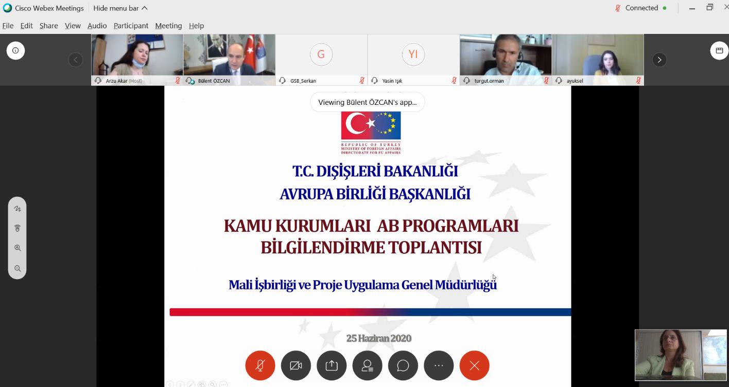 Kamu Kurumları Birlik Programları İrtibat Noktaları Çevrimiçi Toplantısı Yapıldı