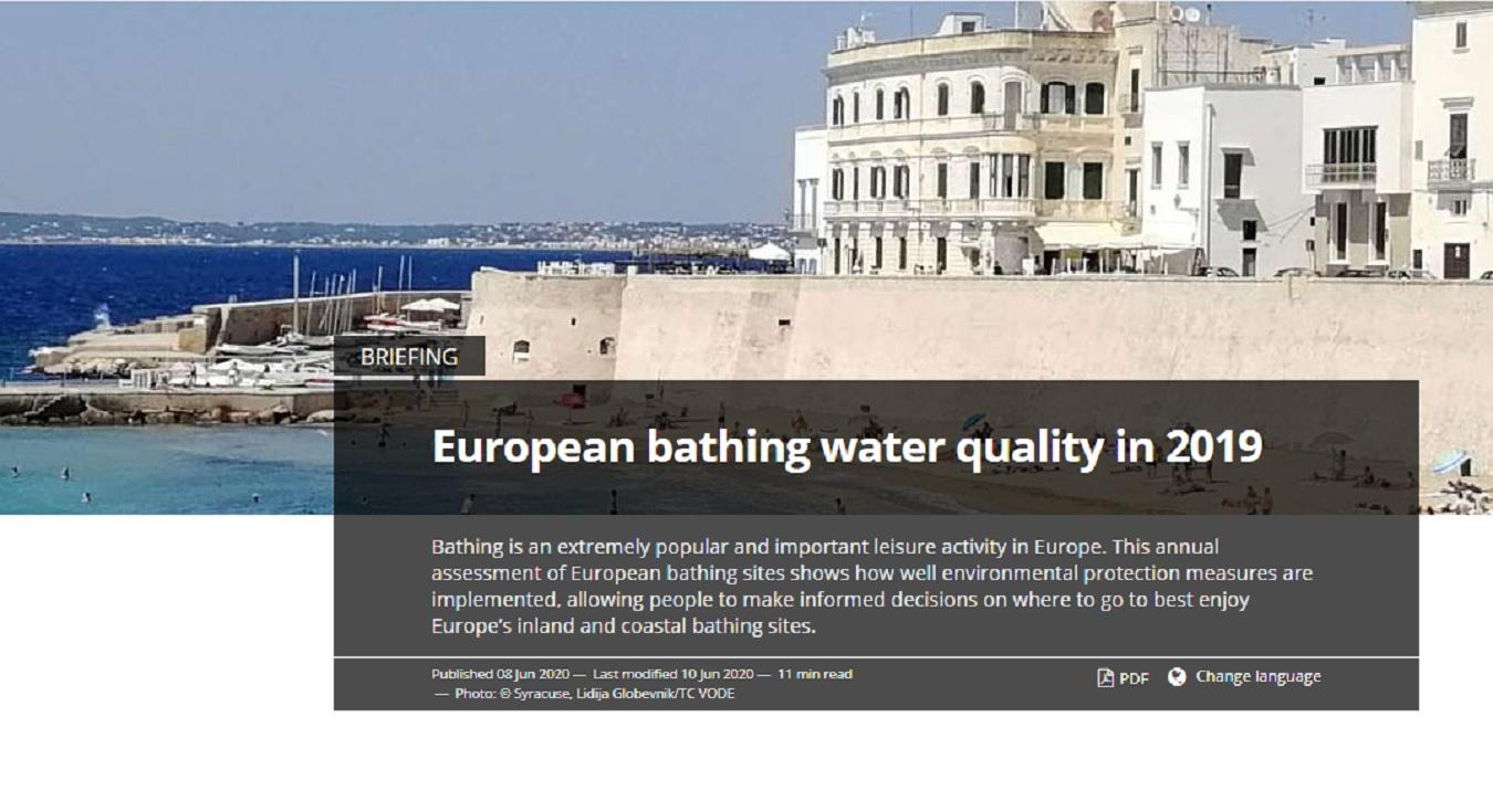 Avrupa 2019 Yılı Yüzme Suyu Kalitesi Brifing ve Ülke Raporları
