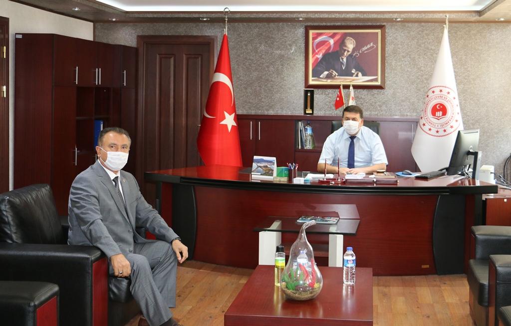 Adana İli Defterdarı Şahin ÖZMERTYURT,  İl Müdürlüğümüzü ziyaret etti.