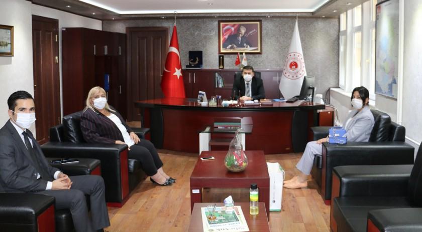 Ceyhan Belediye Başkanı Hülya ERDEM , İl Müdürlüğümüzü ziyaret etti.