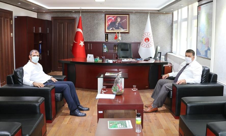 İmamoğlu Kaymakamı Mehmet AKSU İl Müdürlüğümüzü ziyaret etti.