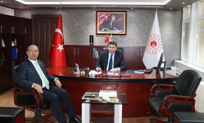 Osmaniye Milletvekilimiz Sayın Mücahit DURMUŞOĞLU'ndan hayırlı olsun ziyareti.