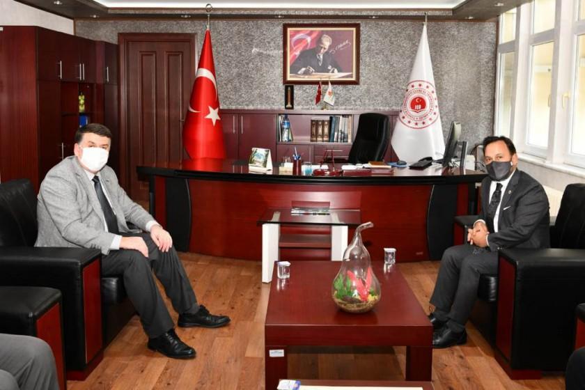 Sarıçam Belediye Başkanı Bilal ULUDAĞ İl Müdürlüğümüzü ziyaret etti.
