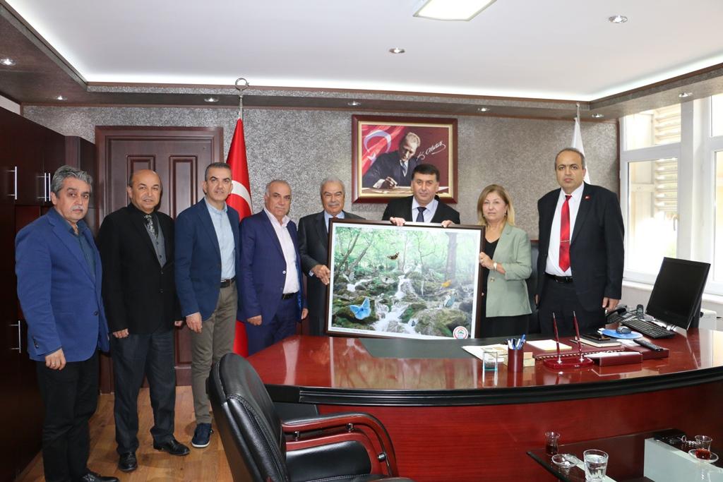 Adana Toros Dernekleri Federasyonu Genel Başkanı Cenap EROL ve üyelerinden hayırlı olsun ziyareti