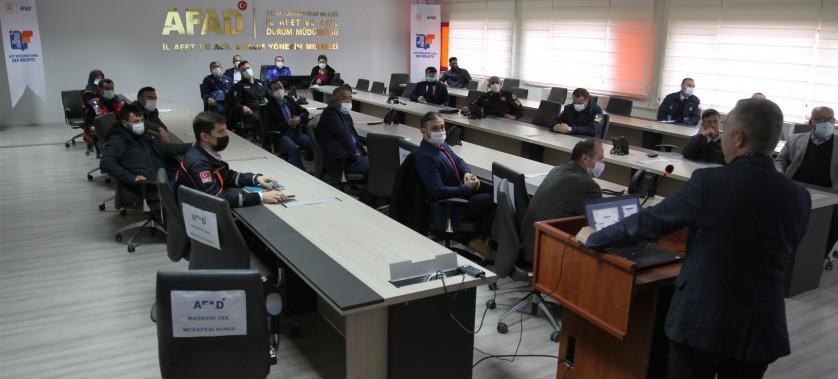Afyonkarahisar İl Afet Müdahale Planı kapsamında, Yangın Çalışma Grubu ve Defin Çalışma Grubunu masa…