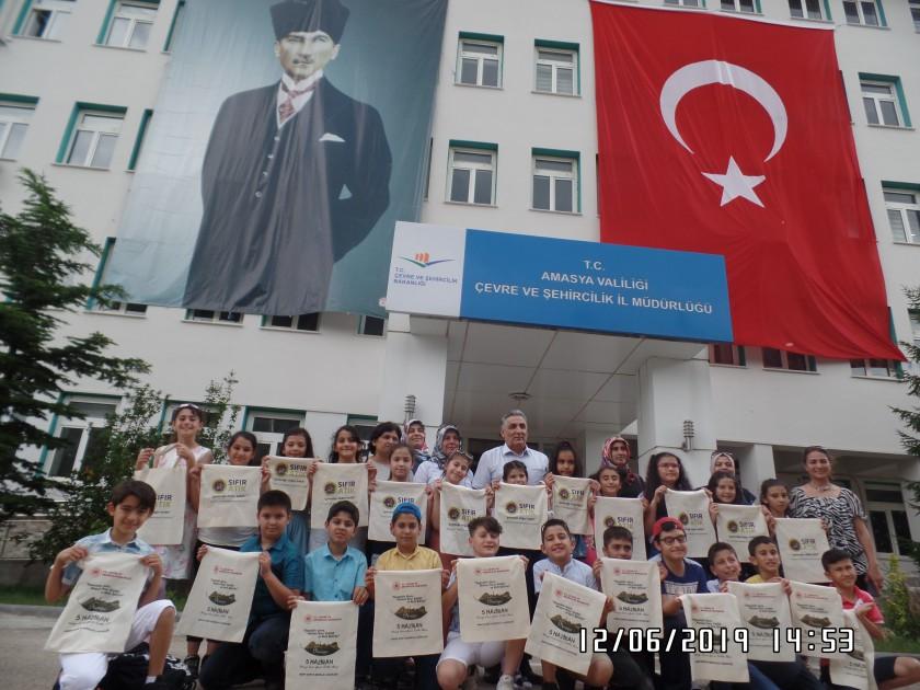 """5 Haziran Dünya Çevre Günü ve Haftası nedeniyle ilimiz Merkez Fatih İlkokulu Öğrencileri """"Sıfır Atık"""" Projesinin Uygulamalarını Yerinde Görmek İçin İl Müdürlüğümüzü Ziyarette Bulundular"""