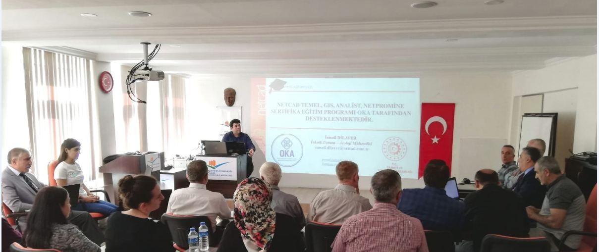 OKA ve İl Müdürlüğümüz Projesi Olan NetCAD-II Sertifika Eğitimi Uygulamalı Başlamıştır.