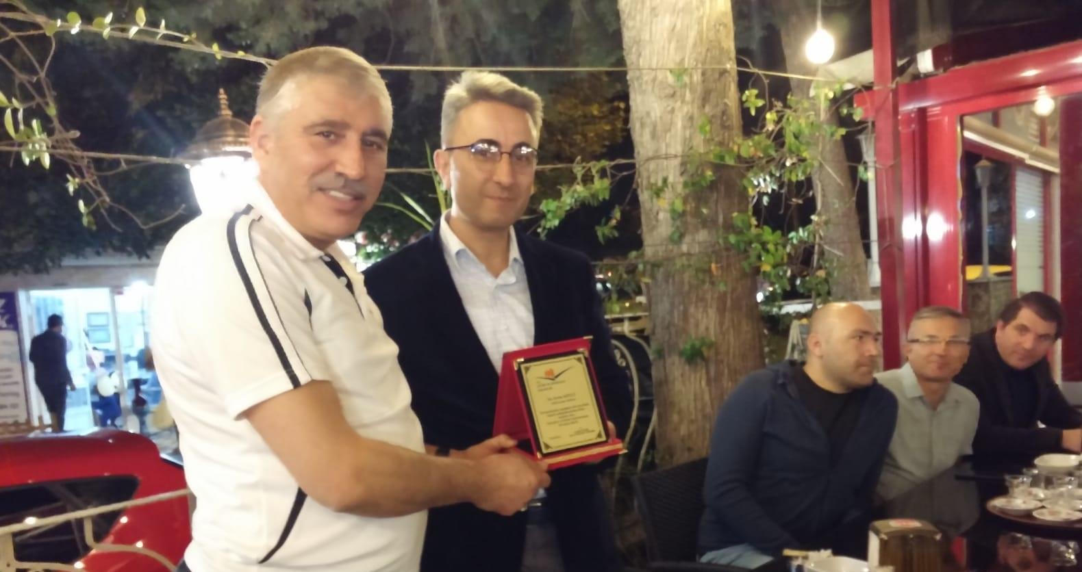 Mili Emlak Müdürü Sertan KÖYLÜ' ye Veda Yemeği Düzenlendi.