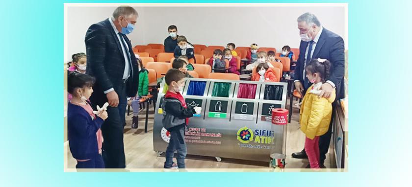 Zübeyde Hanım Anaokulu Öğrencilerine Sıfır Atık ve Geri Dönüşüm Eğitimi Verildi.