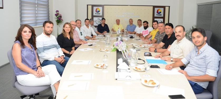 Antalya Ticaret ve Sanayi Odası'nda (ATSO) Kentsel Dönüşüm Toplantısı Düzenlendi.