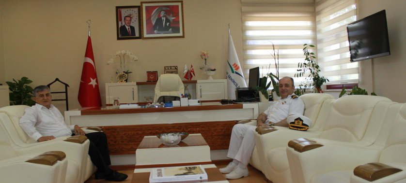 Deniz İstihkâm Albay Sedat ALYAKUT  il Müdürmüzü ziyaret etti.