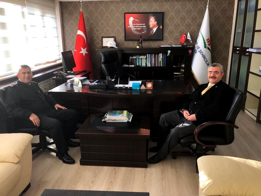İl Jandarma Komutanımız J. Alb. Mesut İNAN Müdürümüz M.Taha AL'ı ziyaret etti.