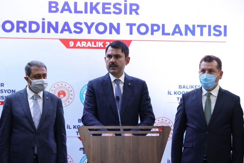 Çevre ve Şehircilik Bakanımız Murat Kurum, İncelemelerde Bulunmak Üzere Balıkesir'i Ziyaret Etti.