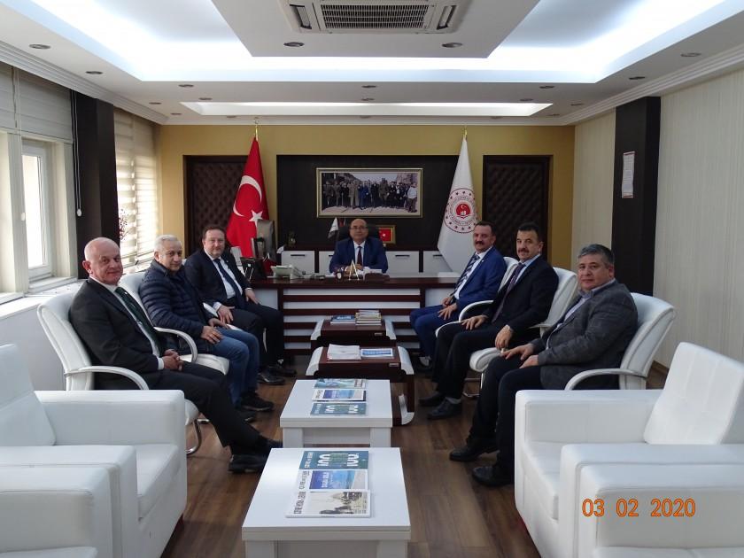 Karesi Belediye Başkanı Dinçer ORKAN İl Müdürümüz Sadullah ÖZEL'i Makamında Ziyaret Etti.