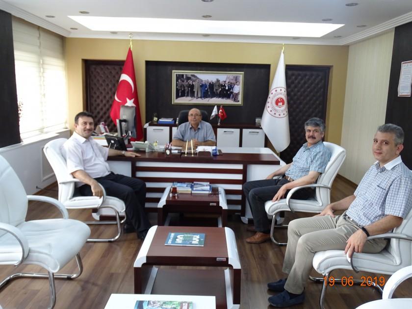 Vali Yardımcımız Sayın Mustafa ÇEK İl Müdürümüz Sadullah ÖZEL'i Ziyaret Etti.