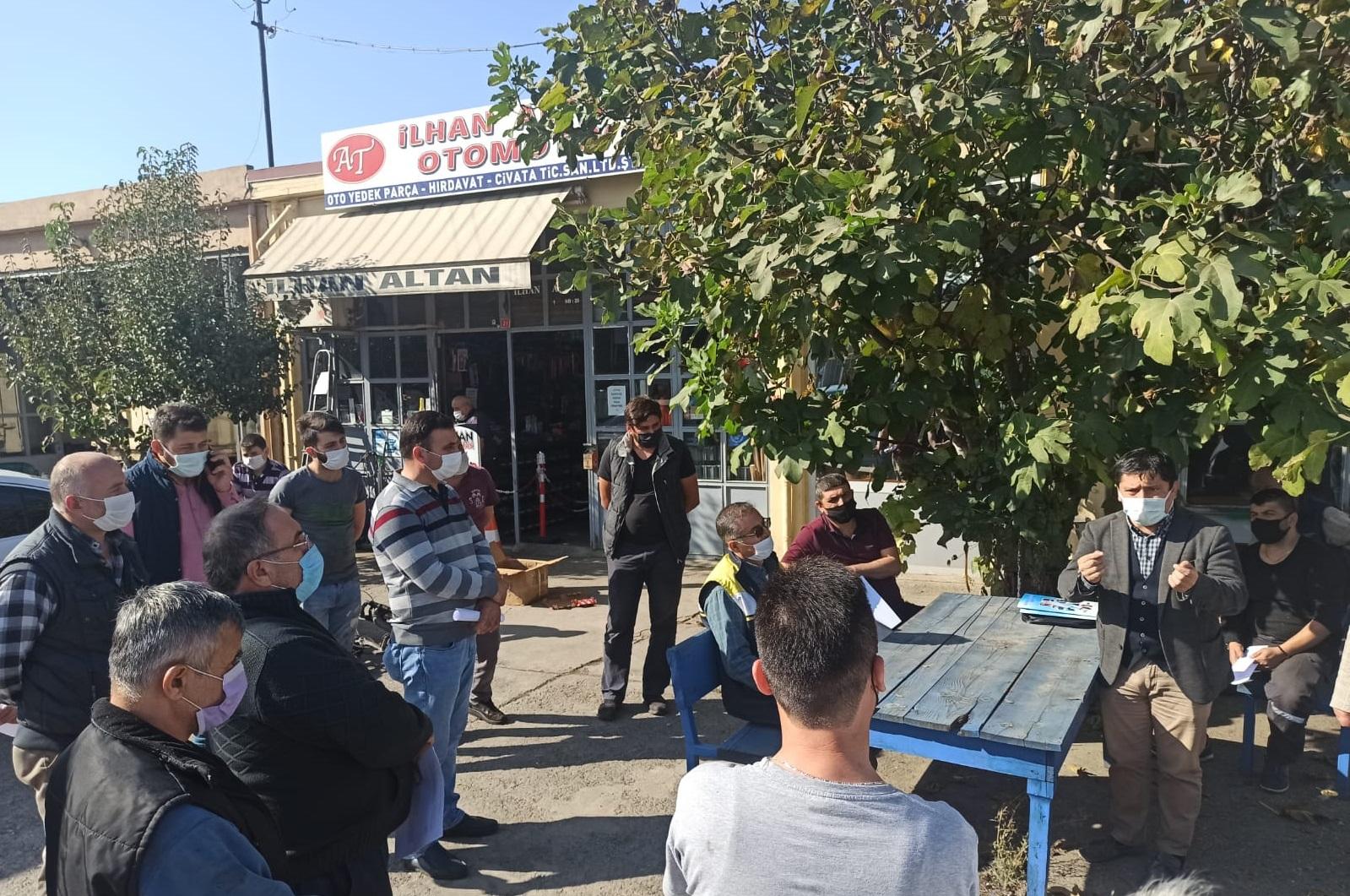 Bartın Küçük Sanayi Sitesi Esnafına Motor Yağı Değişim Noktası (MoYDeN) Hakkında Bilgilendirme Toplantısı Yapıldı