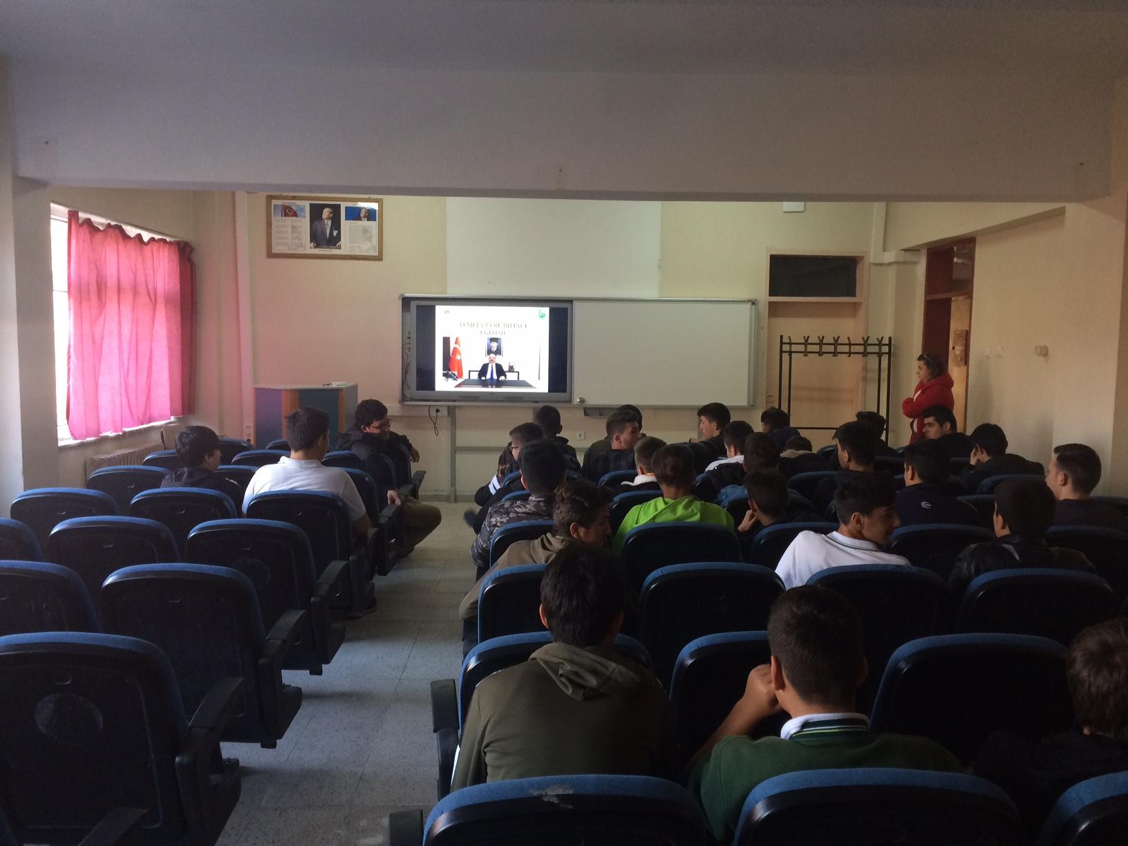Şehit Musa Aytar Mesleki ve Teknik Anadolu Lisesi'nde Sıfır Atık Konulu Eğitim Verildi